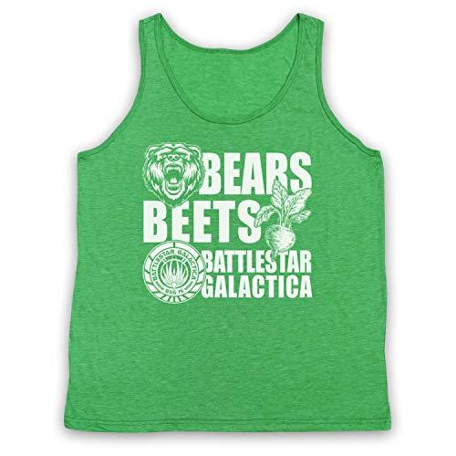 Inspired Apparel Inspirado por Office US Bears Beets Battlestar Galactica No Oficial Camiseta de Tirantes
