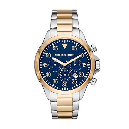 Michael Kors Men's Quartz Watch with Stainless Steel Strap, Two-Tone, 22...