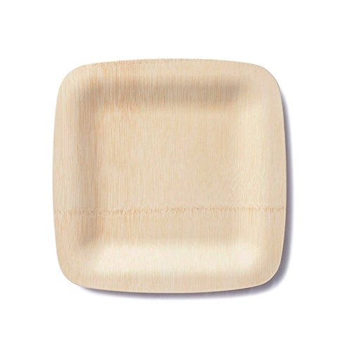 """7"""" Square Disposable Bamboo Plates 