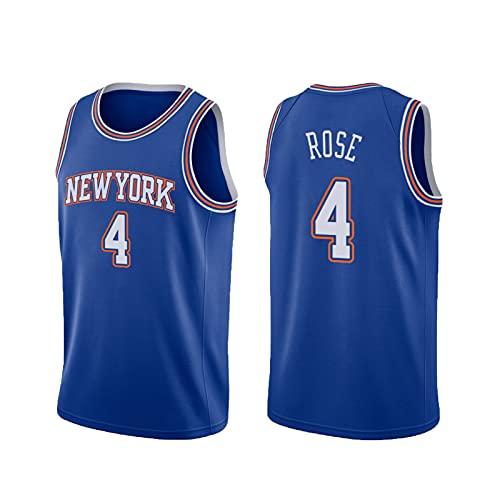USSU Camiseta de baloncesto sin mangas de 4 # sin mangas, para hombre, uniforme profesional, informal, no se decolora, partidos de baloncesto, color azul
