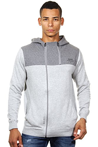 JACK & JONES Herren Jacke Jjcotroy Knit Hood, Gr. Large, Grau (Light Grey Melange Detail:REG)