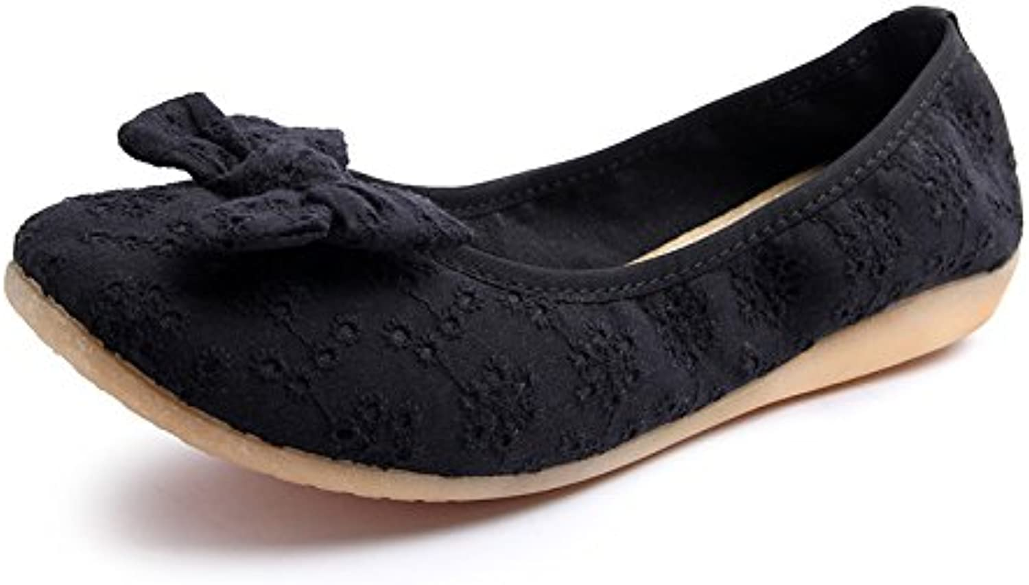 WHW Women shoes mesh upper omelets shoes single shoes with soft, non-slip shoes ,black,37 port Pregnant Women