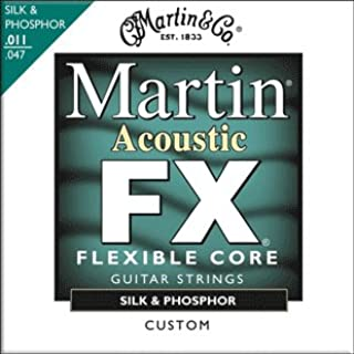 Martin FX130 acoustic guitars strings Flexible Core Silk and Phosphor 11-47