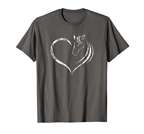Süßes Pferdeherz Kleidung Geschenk für jeden Pferdeliebhaber T-Shirt