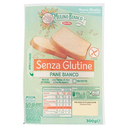 Mulino Bianco Pane Bianco senza Glutine per la Colazione, Pranzo e Cena, 300g