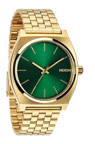 Nixon Time Teller Oro disponibile in 9 Colori, Nixon Orologio da Uomo Oro Quadrante Verde in Acciaio Inox