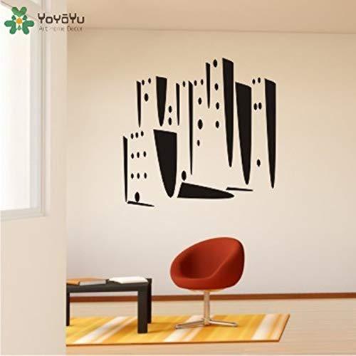Fotobehang moderne stad patroon muursticker woonkamer decoratie accessoires vinyl woondecoratie verwijderbare ontwerp 43x42cm