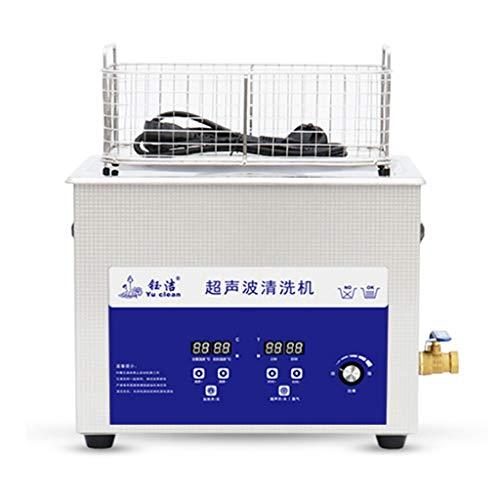 Máquina De Limpieza Ultrasónica con Ajuste De Temperatura Temporizada De 15L, Máquina De Limpieza Ultrasónica Oscilante con Función De Desgasificación, Máquina De Cavitación para Descontaminación De