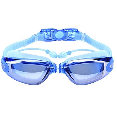 QQSS Gafas de Natación, Antiniebla Protección UV sin Fugas Gafas Natación Premium Cómodo Gafas de Natación Tapones para los Oídos Adjunta