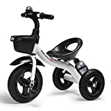 COOL-Series Kids Trike Toddlers Children Tricycle Stroller Trike 3 Wheel Pedal Bike Multicolor for 2 3 4 5 Years Old Boys Girls Indoor & Outdoor with Storage Bin and Cup Holder (White)