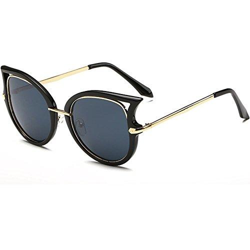 linyuan 921Mujer Ojo de gato de gafas de sol retro Classic funda vintage UV400 gris