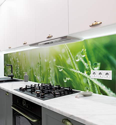 MyMaxxi | selbstklebende Küchenrückwand Folie ohne bohren | Aufkleber Motiv Wiese | 60cm hoch | adhesive kitchen wall design | Wandtattoo Wandbild Küche | Wand-Deko | Wandgestaltung