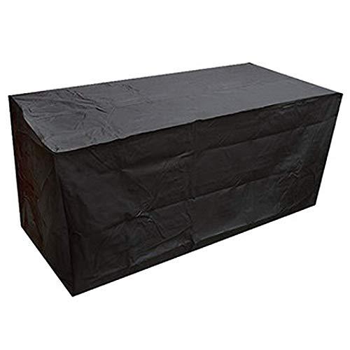 CTTAO Conjuntos de Muebles 115x115x70cm Resistente al Desgarro Anti Viento/UV, Cubierta de Mesa de jardín Rectangular, para Muebles de Jardín, Patio, Mesa Sillas Sofás, Negro