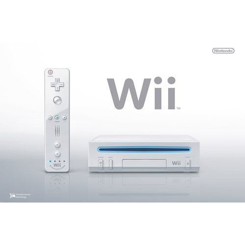 Nintendo Wii Console, White RVL-101 (NEWEST MODEL)