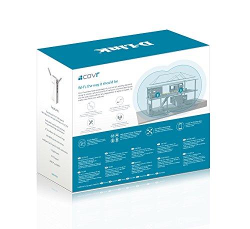D-Link COVR-P2502 Mesh Netzwerk-Lösung (mit WLAN und PowerLine geeignet für einen starken und unterbrechungsfreien WLAN-Empfang, Wave 2 WiFi AC 1200, Hybrid-Lösung)