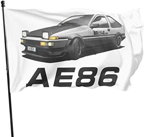 AGnight Flagge Fahnen Banner AE86-JDM-Drifting Decorative Garden Flags, Outdoor Artificial Flag for Home, Garden Yard Decorations 3x5 Ft
