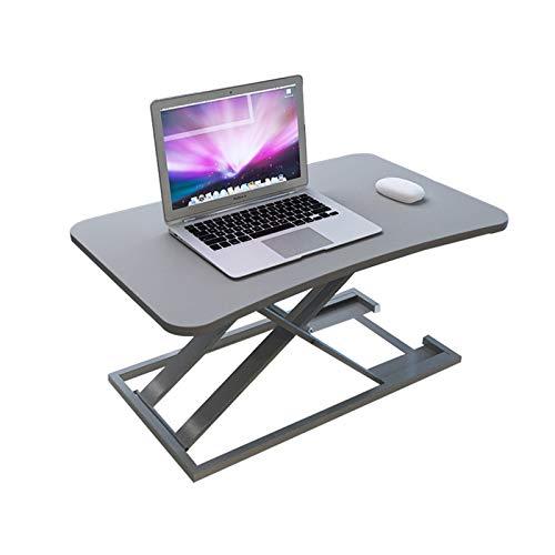 LZL Mesa de Camping Plegable Ajustable del Ordenador portátil de pie Converter - Ordenador portátil ergonómico Vertical del Ordenador coloca el sostenedor de Escritorio for el hogar/Estudio/Oficina /