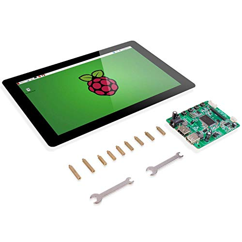 Raspberry Pi 10.1' Display Touchscreen – SunFounder 10.1 Inch IPS LCD HDMI 1280x800 for Raspberry Pi 3 2 Model B and RPi 1 B+ LattePanda Beagle Bone