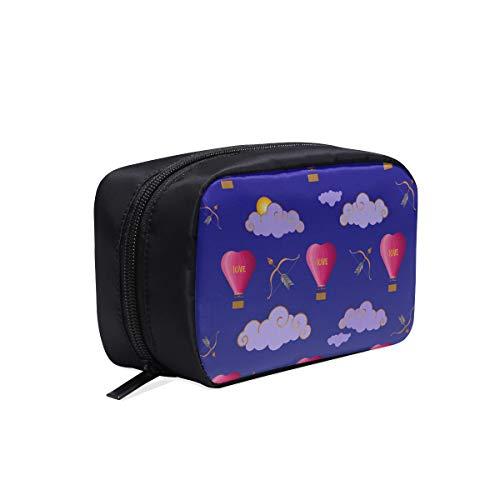 Sacs pour le voyage Mignon en forme de coeur Ballon à air chaud Womans Sacs de toile Sac de maquillage Cheer Sacs à la mode pour les sacs de cosmétiques pour filles Sac multifonctionnel Sac de toilet