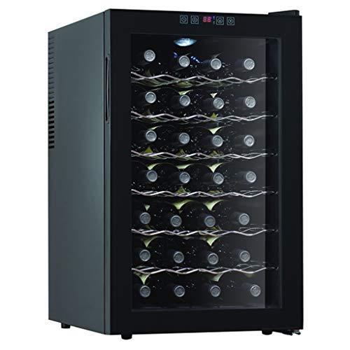 Refroidisseur à vin thermoélectrique de 28 bouteilles JCOCO - Refroidisseur de vin rouge et blanc - Cave à vin de comptoir - Réfrigérateur indépendant avec écran LCD