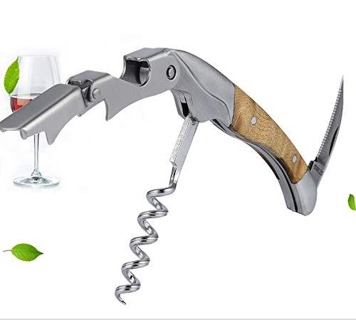 Dioche Kellnermesser Wein Flaschenöffner, Handheld Arbeit Sparende Weinflasche Korkenöffner, All-in One Kellner Korkenzieher für Home Bar Club Party Verwendung