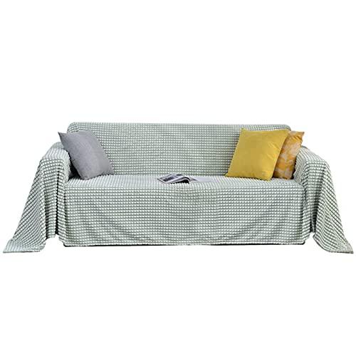 YCDZSW Funda de sofá, Colcha Multiusos para sofá, Manta Foulard Extra Grande, Funda Cubre Sofá Chaise Longue, Ideal como Toalla, Cubierta de Sofá (Verde,200 x 150cm)