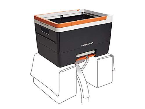 Fietsklik Crate klappbarer Fahrradkorb Fahrradbox Gepäckträgerkorb Hinten Auf Rollen Für Das Klik Basismodul, Orange, 31x34,8x48cm