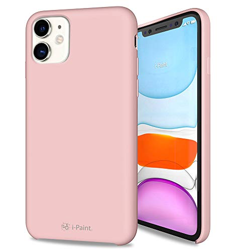 i-Paint Funda Protectora para iPhone 11 de 6,1 Pulgadas de Silicona Rosa...