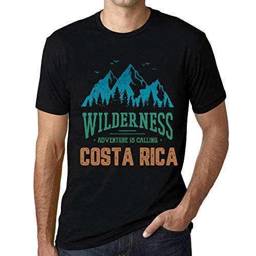 One in the City Hombre Camiseta Vintage T-Shirt Gráfico Wilderness Costa Rica Negro Profundo