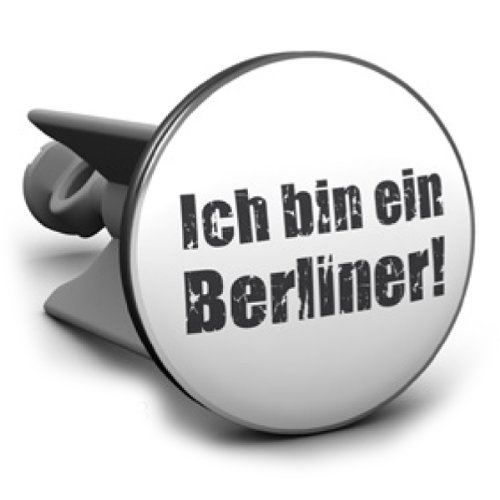 Wastafel stopper Ik ben een Berliner, het origineel van Plopp®, kwaliteit made in Germany