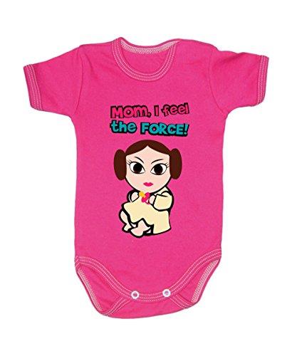Couleur Mode bébé Leia bodies à manches courtes 100% coton Petit bébé – 24 mois – 0013 rose 12-18 months, 86 cm