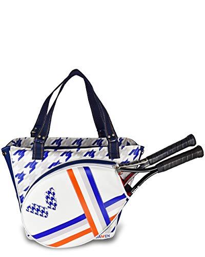 Bolsa de Tenis para Mujer IDAWEN. Raquetero de Mujer tamaño Medio, con Bolsillo específico para Raqueta