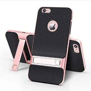 iPhone 6 6S Kılıf Standlı Tam Korumalı Silikon Kapak Rose Gold