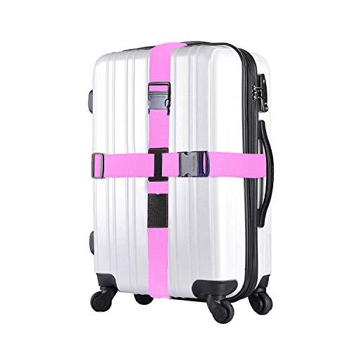 Gepäckgurt Kreuz, Koffergurt Gepäckband Kofferriemen Kofferband Reise Urlaub Gurt 2 Stück in pink