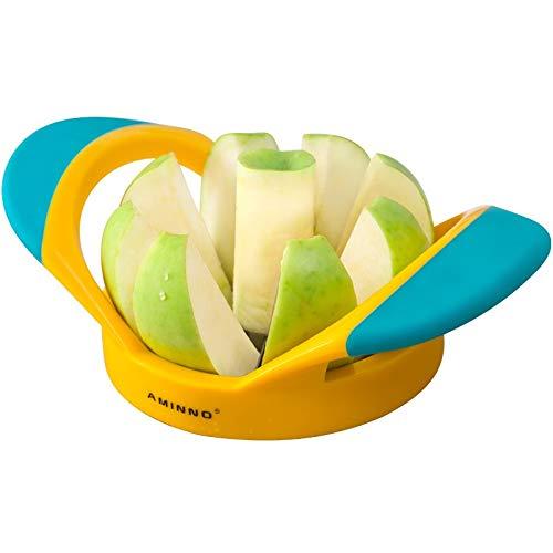 JANRON Coupe Pomme/Mangue, Eplucher Pomme, Trancheuse Diviseur De Pommes, Coupe-Pommes en Acier Inoxydable à poignées en Plastique, Facile à Nettoyer Au Lave-Vaisselle sans BPA