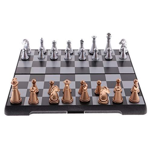 ARLTArlt Juego de ajedrez de Viaje magnético con Tablero de ajedrez Plegable Juguetes educativos duraderos