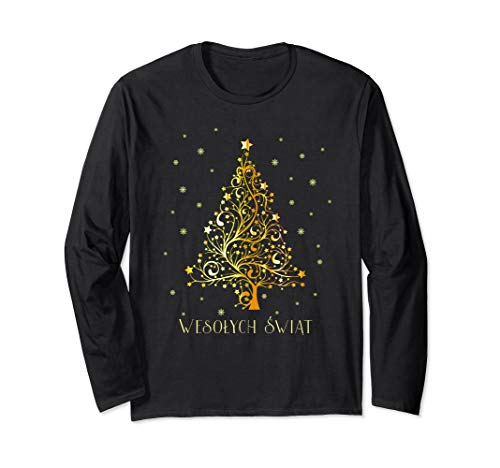 Polish Christmas Tree Poland Decoration Ornament Star Xmas Long Sleeve T-Shirt