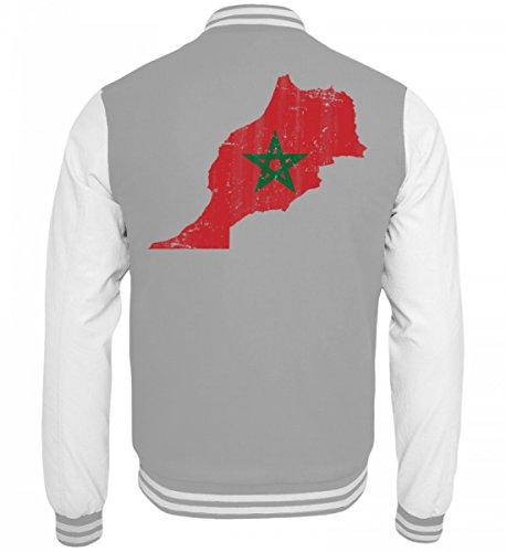 Hochwertige College Sweatjacke - Marokko Stolzes Marokkanisches Vintage Fussball Fan Trikot - Morocco Land Sport Geschenk