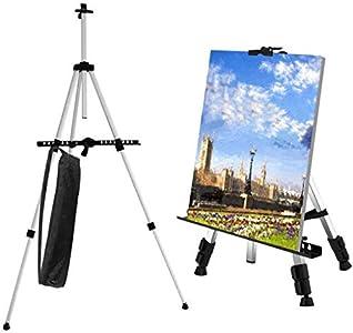 Caballete de Pintura Regulable Aleación de Aluminio Ligero Caballete Plegable trípode telescópico de Pintura, póster, etc. Multifunción Con bolsa de transporte (PLATA)