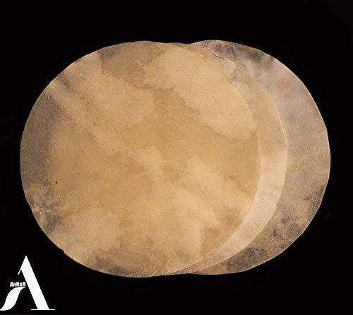 Ziegenfell Djembe Kopf   Ziegenfell für Trommel Doumbek   Natürliches, flaches Rundstück Ziegenhaut Kopf gegerbt von AnNafi (91,4 cm)