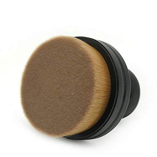 Visage Maquillage Pinceau Doux Poignée Portable Professionnel Rond Joint Maquillage Pinceau, Poudre Fondation Correcteur Brosse Femmes Outil Cosmétique