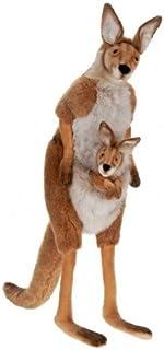 """43"""" Lifelike Handcrafted Extra Soft Plush Mother Kangaroo with Joey Stuffed Animal"""