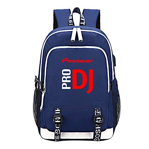 Pioneer Pro Dj Rucksäcke Klassischer Rucksack Männer Schultasche High School Rucksack Korean Tide Multicolor Backpack Pioneer Pro Dj Kinderrucksäcke (Color : A08, Size : 44 X 30 X 15cm)