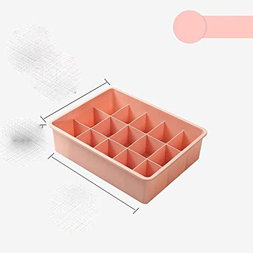 Caja de almacenamiento combinada de varios tamaños para ropa interior, caja de almacenamiento de calcetines, caja de almacenamiento de ropa interior, cajón divisor con tapa, sin cubierta