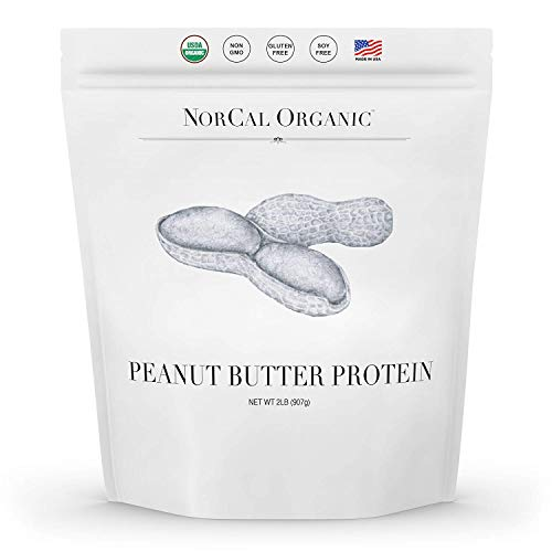 Norcal Organic Peanut Butter Powder, 2lb   11g Protein, 100 Calories, 41 Servings   Vegan, Natural,...