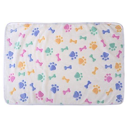 LRHYG Dog Blanket Pet Blanket Pet Sleeping Mat Winter Warm Soft Coral Velvet Pet Blanket Sleep Mat Dog Bed Puppy Cushion Carpet (Color : Blue, Size : M(76cm x 52cm))