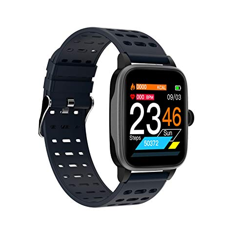 YGQNH P30 Smart Watch Sports Fitness Waterproof Bracelet Activity Tracker Heart Rate Monitor Blood Pressure For Android IOS, Easy To Use(Color:Blue)