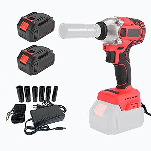 Llave eléctrica recargable, herramienta auto de la tuerca del tornillo del estante de la reparación, ajuste del esfuerzo de torsión de la llave de impacto: 0-520N.M
