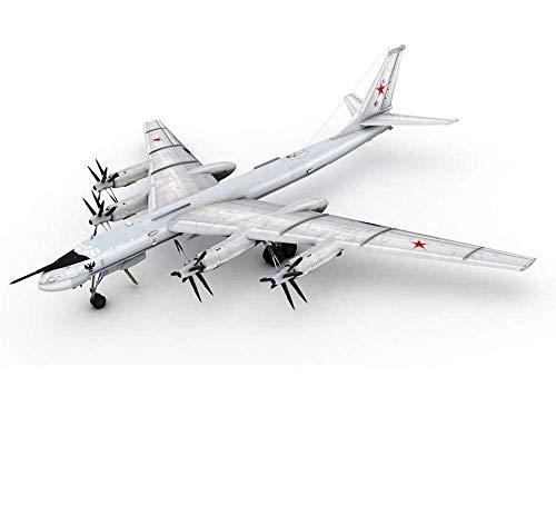 YQG Modelo de aleación de Combate Militar Fundido a presión, Modelo de avión TU-95 soviético de la Segunda Guerra Mundial a Escala 1/144, Juguetes y Decoraciones para Adultos, 13,7 y Tiempos;13