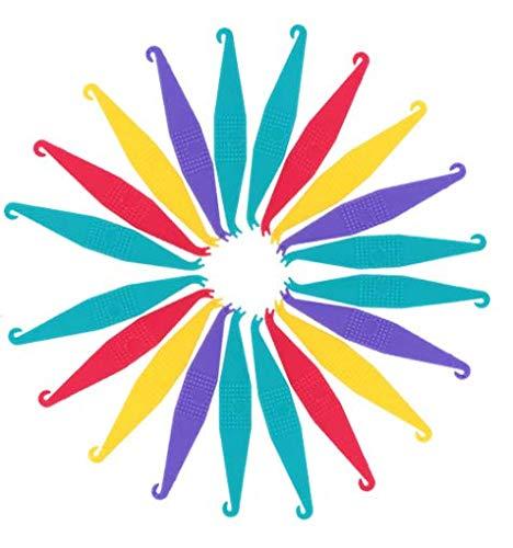30 Pcs Multicolored Dental Elastic Rubber Bands Placers for Braces Disposable Plastic Orthodontic Elastic Placers